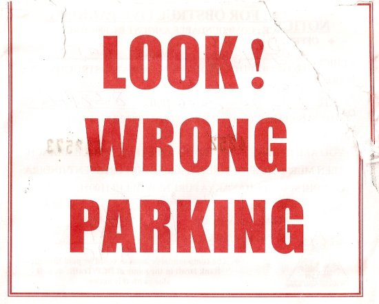 Wrong Parking Challan
