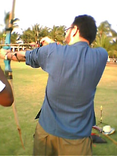 Rahul's arched-back archery