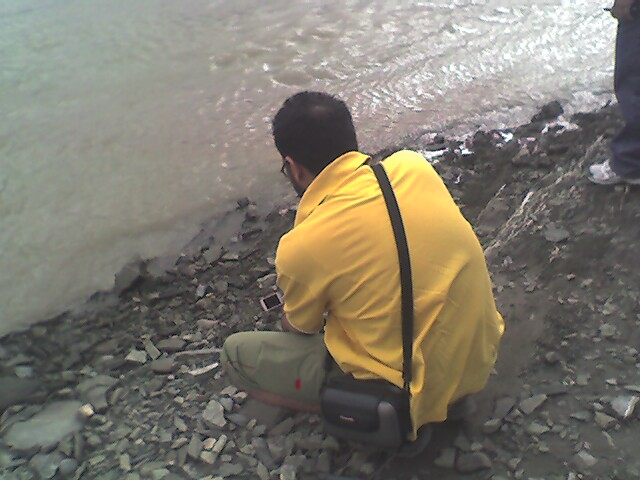 Rahul's bent back shooting in Ladakh