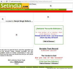 Sidhuisms on setindia.com